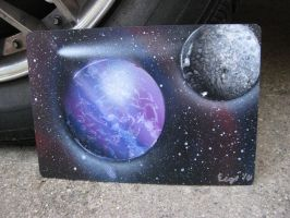 Mini Celestial Spray Painting1 by Christine-Eige