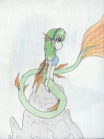 Green Mermaid by TheRedCello