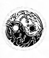 Dragon Tribal Yin and Yang by EloriePPC