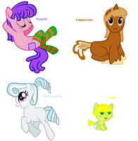 Themed adoptables 17-20 (CLOSED) by BronyBase