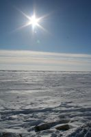 Frozen Bering Sea by freddyfivemiles