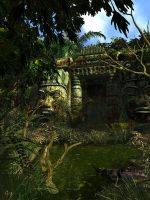 Jungle Temple II by gerberc