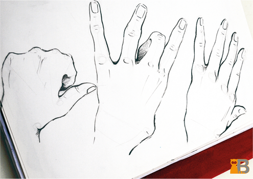 Study of Hands by TheDesignRacoon