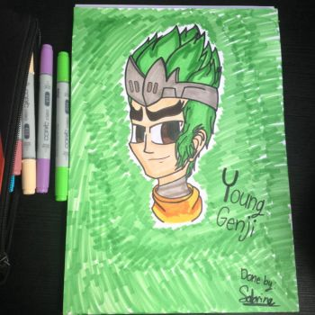 Drawing Overwatch - Young Genji (but with colors) by Riyana2