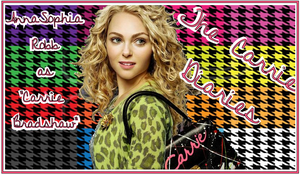 AnnaSophia Robb as Carrie Bradshaw by iluvlouis