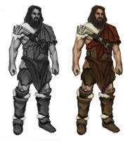 barbarian - concept art by n-pigeon
