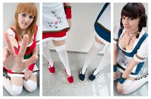 Hitomi and Leifang - look at our shoes :D by Nandeena