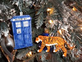 Tiger and TARDIS Ornaments by Twilit-Guardian