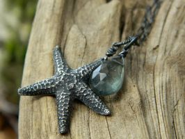 Star of the Sea -Starfish -Fine Silver Pendant by QuintessentialArts