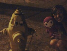 Frank and I with fire hydrant by Zhonaluz