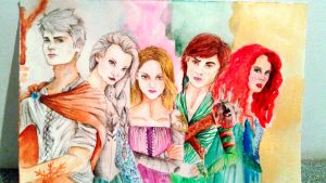 Rise of the brave tangled frozen dragons by JositoTheArtist