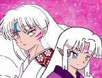Sesshomaru and girl by NikoBlackcloud