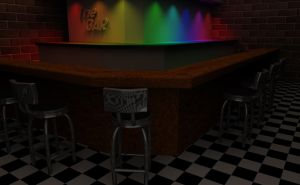 Chairs at the bar by kin37ik