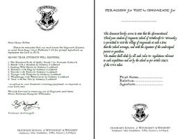Hogwarts Letters- Second year and Hogsmeade Form by decat