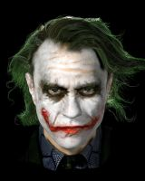 Joker (Heath Ledger) by PaulMellender