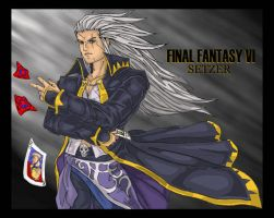 Setzer: Final Fantasy VI by OutlawTornDOA