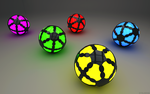 Glowing Spheres by ryanr08