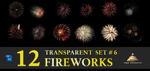 12 Transparent Fireworks Set 6 by HJR-Designs