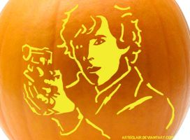 bbc sherlock pumpkin stencil by arteclair