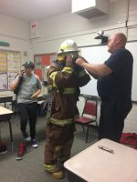 Experiencing the suit of a firefighter  by Noxyhellish