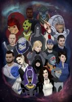 Unfinished Mass Effect squadmates by RoseTheHobbit