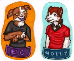 EC and Molly Badges by silverwing