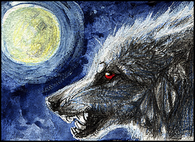.:Moon Howl:. by WhiteSpiritWolf