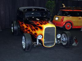 32 Ford streetrod FLAMES by Partywave