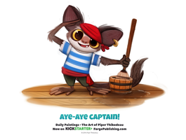 Daily 1334. Aye-Aye Captain! by Cryptid-Creations