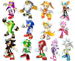 sonic free riders group by Ilovesonicandfriend