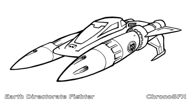 Buck Rogers - Earth Directorate Fighter by ChronoSFX
