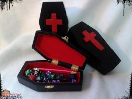 Coffin Dice Cases by RawringCrafts