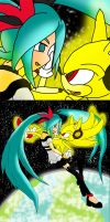Miku x Sonic World Is Ours by Skye-Izumi