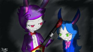 Bonnie and BonBon colored by Artistic-Sofie