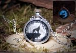'Howlin' Wolf and The Moon' Pendant by navkaze