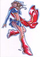 supergirl MARKER MADNESS by deemonproductions