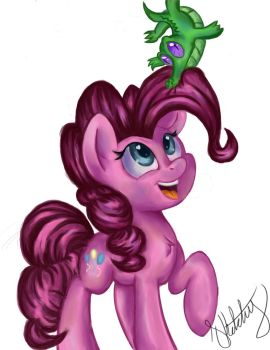 Pinkie Pie And Gummy (practice Paint 2) by Sketchy-The-Pony