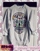 Sugar Skull Sweatshirt by Haszynka