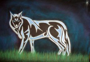 Tribal Nature 1- Wolf by InsanitysBlessing