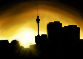 The Skyline Of Berlin by creativemuzzlespigot
