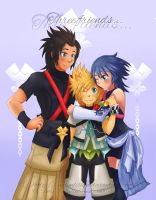 Three friends... [KH Birth by Sleep] by EvelynLisian