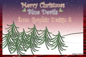 Graphic Design Christmas card by Maszeattack