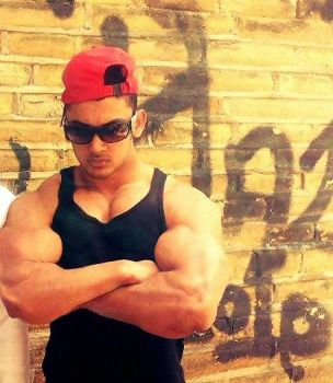 Musclemorphed British Asian Hunk2 (2) by free42dream