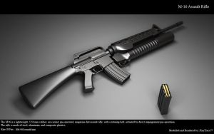 M-16 Assault Rifle by RayTrace77