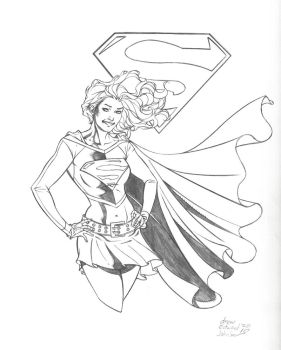 Supergirl sketch from LBCC by DrewEdwardJohnson