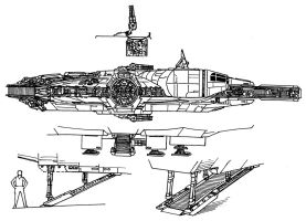 Millennium Falcon Side View 2 by RedSpider2008
