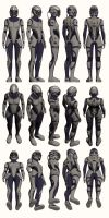 Mass Effect, Female Explorer Armour Light by Troodon80