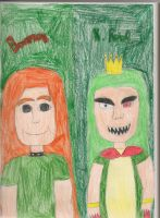 Humans Bowser and K Rool by daisyplayer1