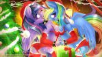 Twilight Sparkle and Rainbow Dash's christmas. by KnifeH