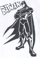Batman stencil by BlackMetallicMuffin